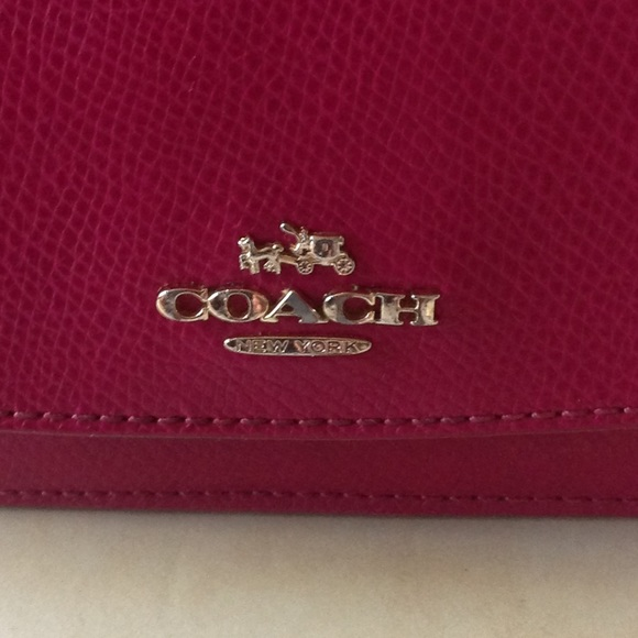 Coach Handbags - Pink Coach Slim Envelope Wallet
